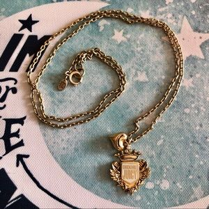 "Juicy Couture Jewelry - Juicy Couture Long 28"" Gold Crest Pendant Necklace"